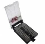 Отвертка реверсивная с набором бит, Partner 392-309 23пр. в пластиковом футляре